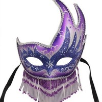 RedSkyTrader Womens Sparkling Beaded Party Mask