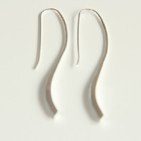 Sterling Silver Minimalist Statment Earrings,Shiny Silver Jewellery, Statement Jewelry Womens Earrings, Minimalist Silver
