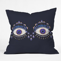 Elisabeth Fredriksson Blue Eyes Throw Pillow