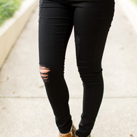Articles of Society Sarah Skinny Jeans - Black Clear Water
