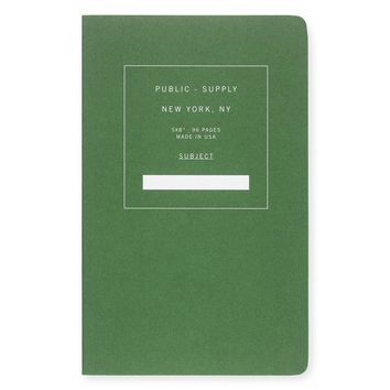 """5 x 8"""" Dot Grid or Ruled Notebook Green 01"""