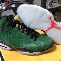 Air Jordan 6 Grass green Basketball Shoes 41-47