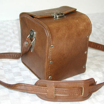 Marsand Camera Case Vintage Brown Accessory Bag & Shoulder Strap