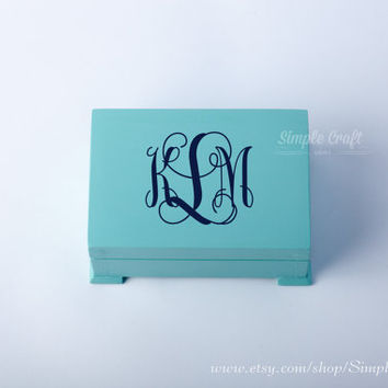 Monogrammed keepsake box large ring bearer box bridal shower custom rustic ring bearer box keepsake box personalized baptism keepsake box
