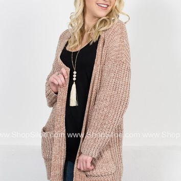 Southern Chenille Cardigan | Taupe