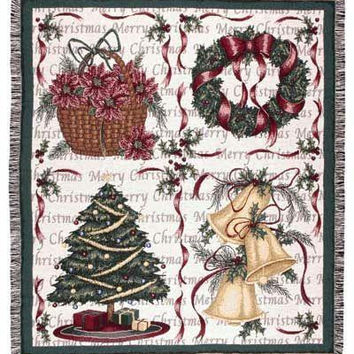 """Christmas Decorations Throw Blanket - Approximate Measurements: 50 """"  X 60 """""""