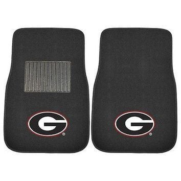 Georgia Bulldogs 2 Piece Embroidered Car Auto Floor Mats