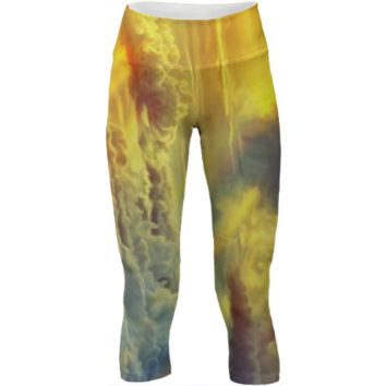 Flight through another galaxy yoga pants