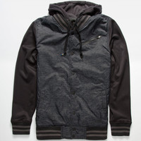 Hurley Therma-Fit All City Mens Jacket Charcoal/Black  In Sizes