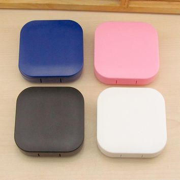 4 Colors Contact Lens Box Holder Portable Small Lovely Candy Color Eyewear Bag Container Contact Lenses Soak Stora