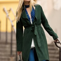 Women's Fashion Free People Long Sleeve Trench Coat [8669081927]