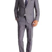 'T-Holden/Glenn' | Slim Fit, Italian Virgin Wool Suit with Silk Trim by BOSS