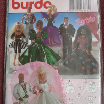 Closing sale -  Burda Barbie doll pattern  sewing pattern - 3886
