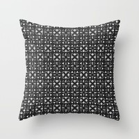 Arrows Pattern Dark Throw Pillow by Kathrinmay