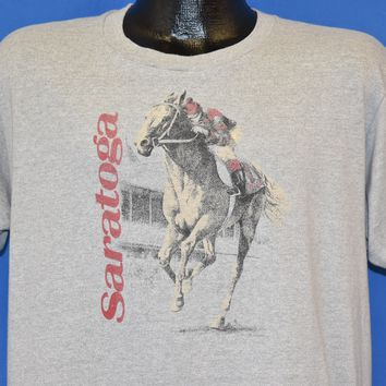 80s Saratoga Horse Racing t-shirt Extra Large