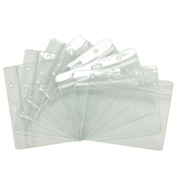 20 Pcs Clear Credit Card Sleeves Protectors Soft Plastic Shielded Waterproof ID Card Band Cards Holders Cover Office Accessories