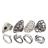 New Look | New Look Grunge Glam Ring Pack at ASOS