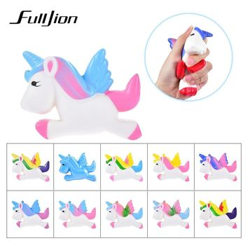 Fulljion Squishy Unicorn Antistress Squishe Stress Relief Novelty Gag Toys Anti-stress Fun Gags Practical Jokes Squeeze Toy Gift