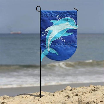 Outdoor Garden Flag - Splashing Dolphin