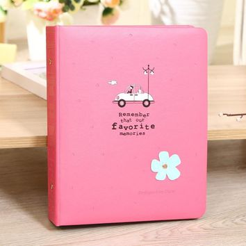 Cartoon Flower Pu Leather Cover Interleaf Type 6Inch Cheap Photo Album Baby Family Ablum Book Style Photo Gallery Photo Album