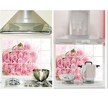 Removable DIY Kitchen Decor House Decals Aluminum Foil Wall Sticker