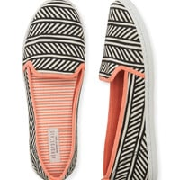 Aeropostale  Contrast Stripe Slip-On Shoe - Black,