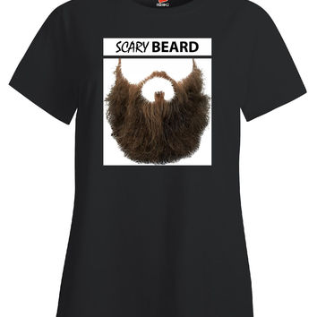 Scary Beard - Ladies T-Shirt