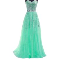 FashionWomen New Women Long Formal Evening Ball Gown Party Prom Bridesmaid Dress
