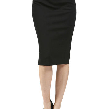 Career Banded High Waist Bodycon Midi Knee Length Pencil Straight Skirts