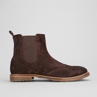 Ben Sherman Suede Brogue Chelsea Boot - Urban Outfitters