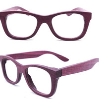 WALKER2012  handmade purple wood wooden eyeglasses glasses frame