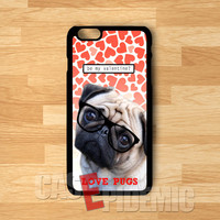 pugs love wears glasses -swn for iPhone 4/4S/5/5S/5C/6/ 6+,samsung S3/S4/S5/S6 Regular,samsung note 3/4