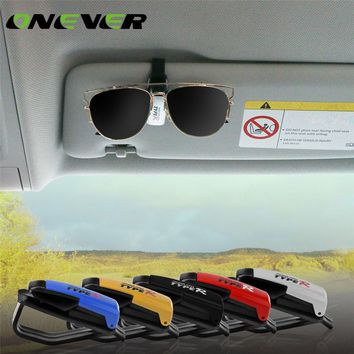 Onever Universal Auto Car Fastener Clips Sun Visor Glasses Sunglasses Ticket Card Pen Organizer Clip Holder Eyeglasses Case Box
