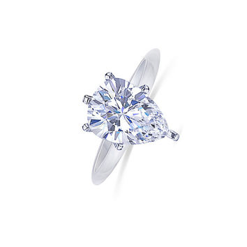 Solitaire 14K white gold 1.5 carat pear cut diamond G VS1 engagement ring