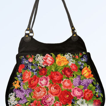 "Embroidered bag. Bags with embroidery. BAG BAG embroidered ""VICTORIA"