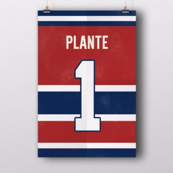 Jacques Plante Number 1 Jersey