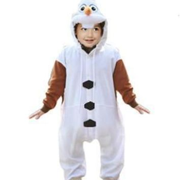 Cool Kids Anime Olaf Onesuit Princess White Snowman Princess Cosplay Pajamas Halloween Party Costumes Jumpsuits CostumesAT_93_12