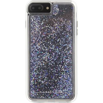 Case-Mate iPhone 7 Plus Case - WATERFALL - Cascading Liquid Glitter - Protective Design for Apple iPhone 7 Plus and 6 Plus -Black