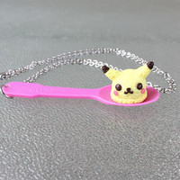 Pokemon Pikachu Ice Cream Scoop Necklace Kawaii Pendant