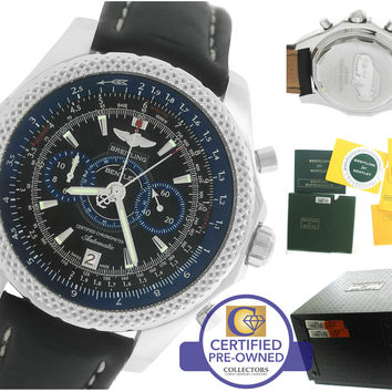 Breitling Bentley Supersports Chronograph Royal Blue Ebony A26364 48.7mm Watch