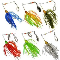 6pc/set Fishing lure set Spinnerbait Pike and Bass