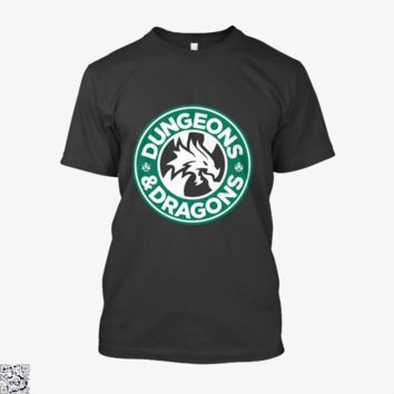 Starbucks Parody Mashup, Dragon And Dungeon Shirt