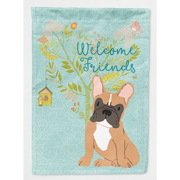 Welcome Friends Fawn French Bulldog Flag Canvas House Size BB7633CHF