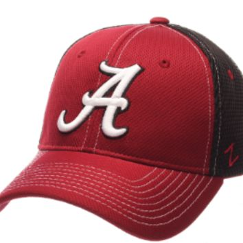 Men's Alabama Crimson Tide Zephyr Maroon/Black Flex Fit NCAA Rally 2 Hat