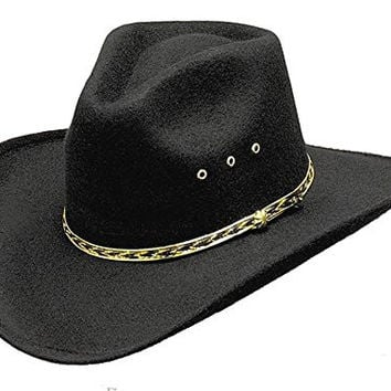 Western Express Black Forest Pinch Front Faux Felt Men s Cowboy 8bbd2735a198