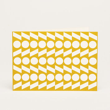 Rythym A6 Notecard - Yellow Ochre by Esme Winter