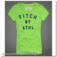 54.95 EUR | Abercrombie Fitch T-Shirt. Fitch NY Athl. NW211GW. Abercrombie Fitch Women's T-Shirts & Tops. Green Color. Fashion clothes, | trendy.to
