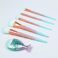 6PC Unicorn brush Makeup Brush Set