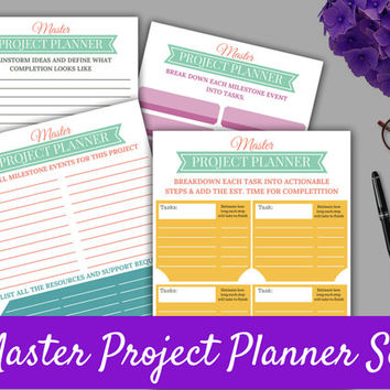 Project Planner Template Set