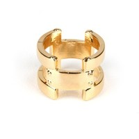 Screw Vault Ring - Gold Rings at Pinkice.com